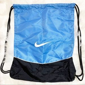 Nike Draw String baby Blue and Black Bag